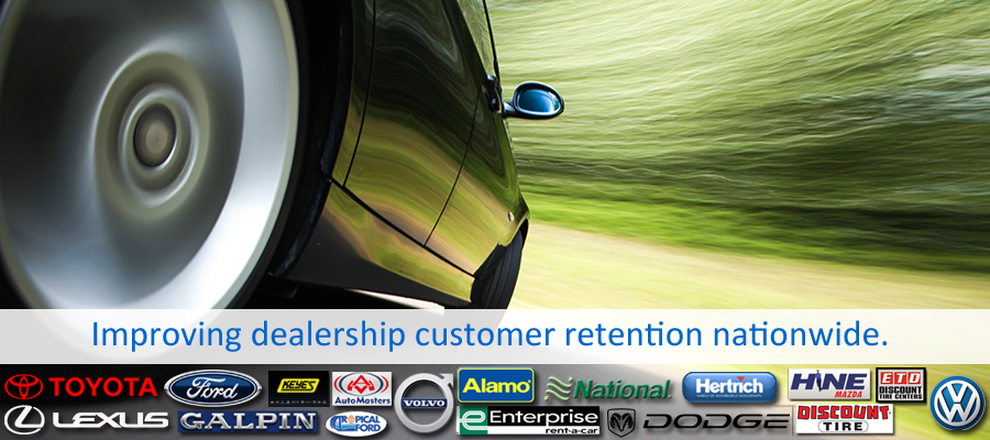 Automotive and dealership services for mystery shopping company