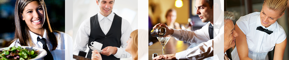 mystery shopping company photo of waiter pouring coffee. mystery shopping company photo of girl carrying plates. mystery shopping company photo of bartender pouring drinks. mystery shopping company photo of waitress taking order